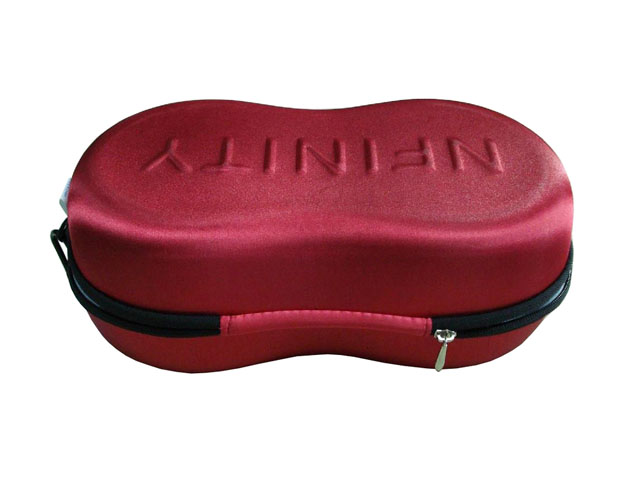 NFINITY molded EVA shoes storage case with carabiner carrying embossed logo custom design 3 size available