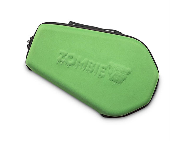 Bulldog thermal formed EVA pistol carrying case with green nylon fabric and Eggcrate foam interior webbing handle