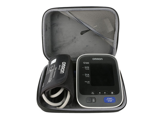 Home Blood Pressure Monitor storage travel case by co2CREA with nylon webbing handle and elastic mesh pocket