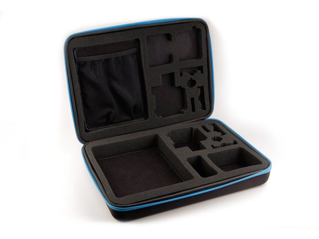 CarryPro gopro waterproof carry case uk with die cutting foam interior and nylon webbing handles