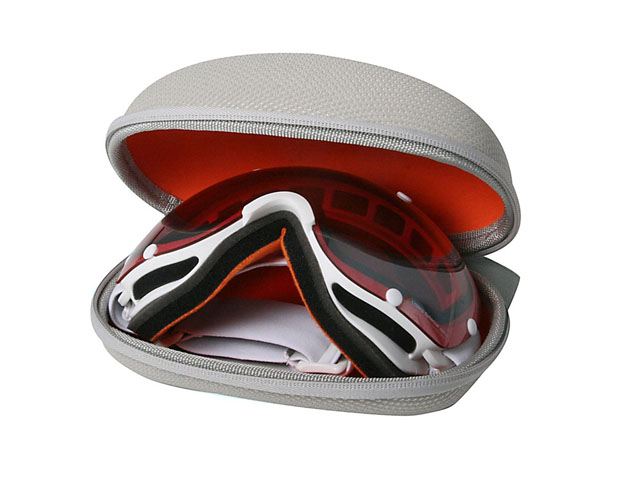 POC Hard shell EVA ski goggle case with reversed zipper soft puller embossed logo