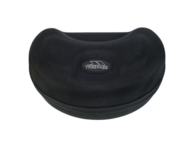TRESPASS hard snow goggle protector case durable nylon covering with NDK pullers and rubber plate logo velvet lining