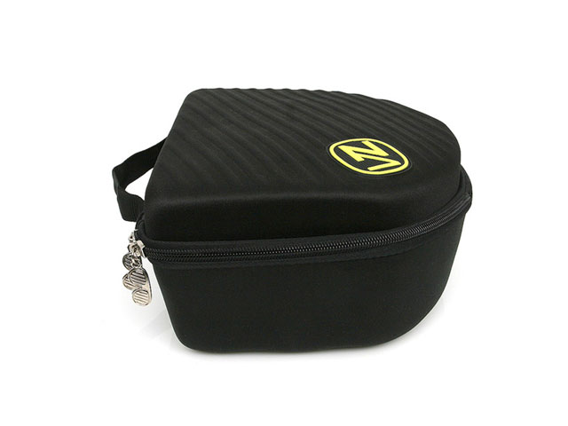 VONZIPPER thermoformed snow goggle holding hard case with soft foam interior and nylon strap handle