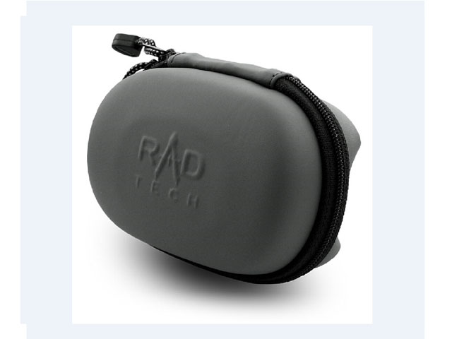 RadPak molded hard shell EVA foam computer mice travel case zippered with embossed logo