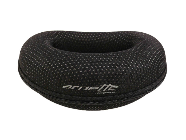 Arnette cute special shape sunglasses case with semihard EVA shell and durable nylon coated imprinted logo