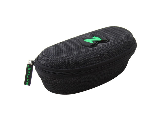 NATIVE EVA eyewear carrying box case air mesh fabric coated with rubber plate logo and foam interior protective