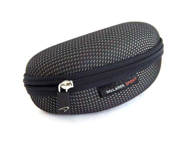 McLaren Sport men's Sunglasses Case for racing with Carbon Fibre Effect fabric covering and fabric label