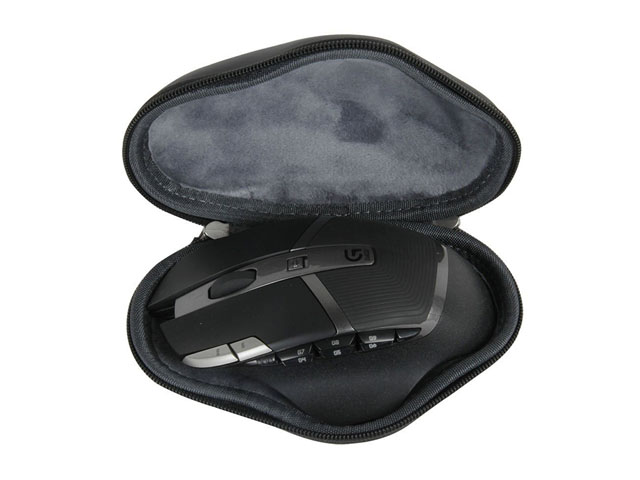 Hermitshell molded hard shell EVA foam wireless game mouse travel case compact sizes