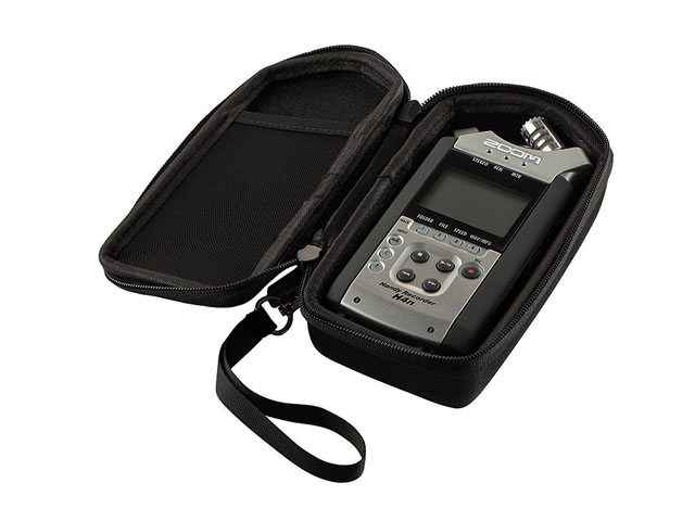 Caseling Molded Portable Digital Recorder hard case boxes with mesh pockets and breakable wrist handle
