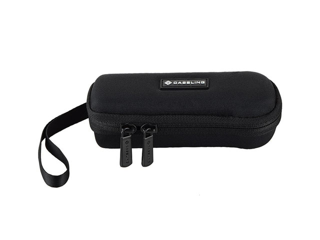 Caseling Hard Shell Digital Voice Recorders case boxes with reversed nylon zipper and tiny mesh pocket