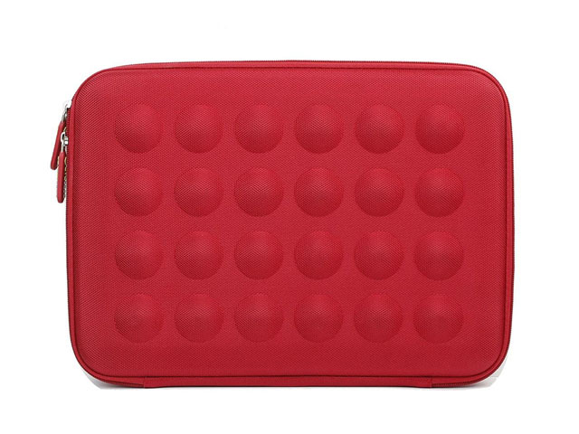 Evecase cheap hard shell laptop cover sleeve with bubble contoured exterior and mesh pocket elastic bands in 4 corners