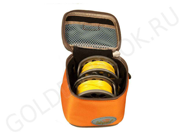FISHIPOND Hard Top EVA fishing reel storage case with waterproof nylon rubber plate logo on front