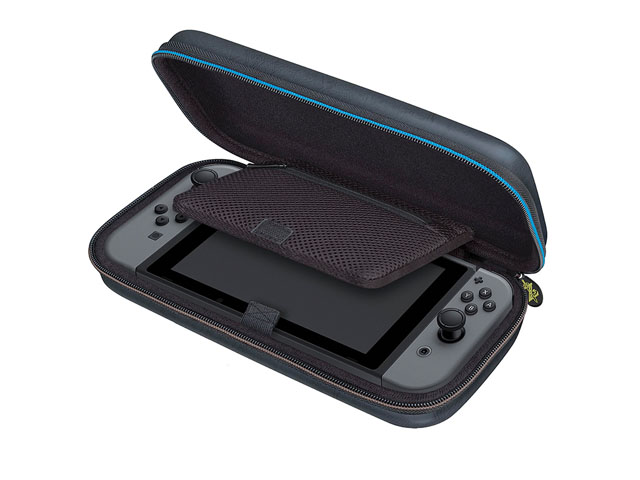 High quality EVA nintendo 3ds zelda XL case with soft gel handle and thick mesh pocket molded foam interior