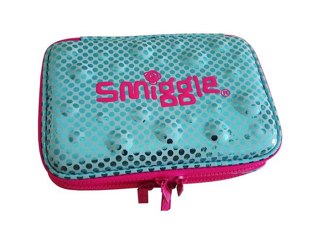 Custom EVA pencil case box hard top for SMIGGLE with plastic zipper closure poly pocket inside