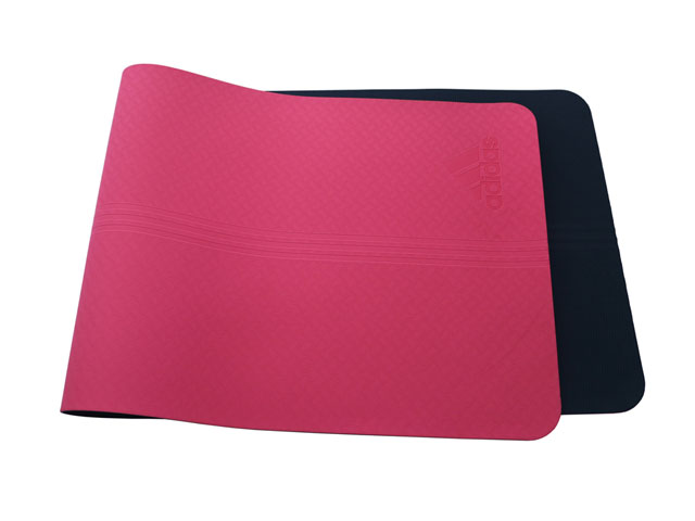 Best quality rated yoga mats for Adidas in pink 100 percent TPE non-slip durable in stock wholesale