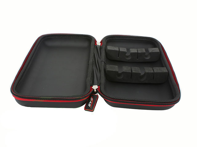 Tool box with foam tray inserts for SAB slim and compact design