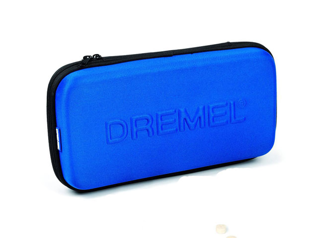 Custom molded cases for Dremel in royal blue with poly fabric and Hard EVA fit cordless Multitool Set