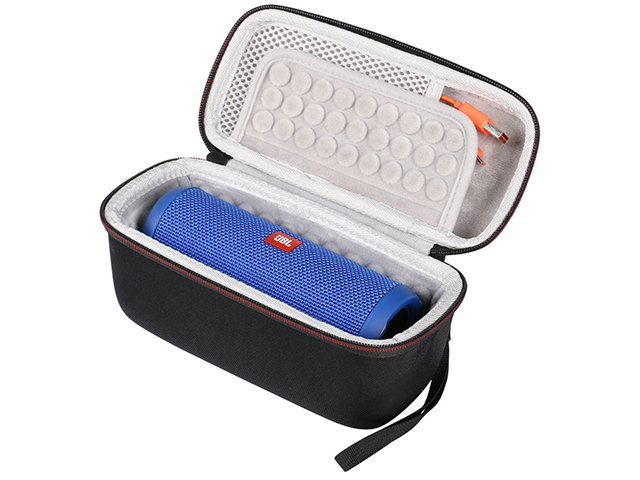 Custom JBL Flip 3 4 Speaker case rectangle shape with molded flap shockproof padded interior
