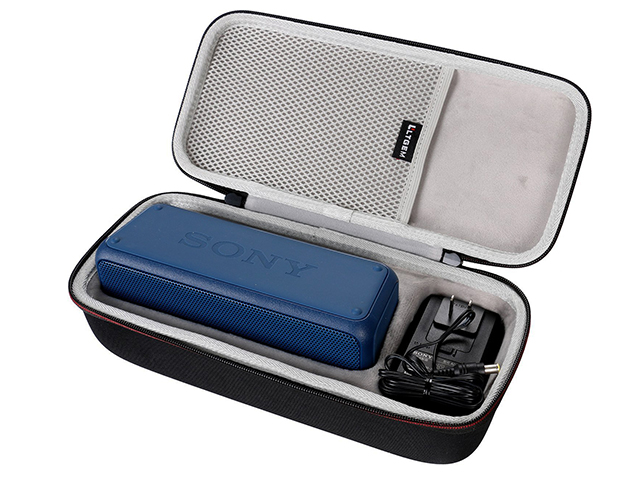 Custom Sony speaker case for SRS-XB3 hard shell EVA foam with molded interior soft TPR Handle