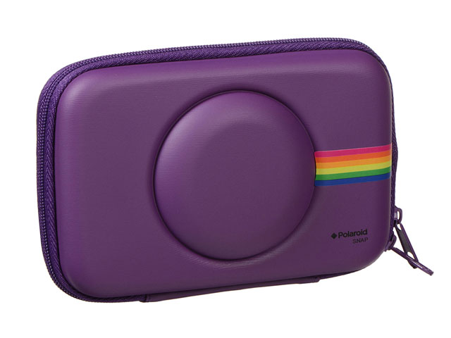 Hard Shell EVA polaroid camera snap case Leather coated black blue red purple colors