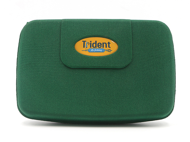 Dark Green Trident flybox with Epoxy logo various fabric colors