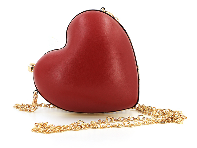 Small hard makeup case Red Heart Shaped Clutch CHARLES & KEITH-Dongguan EVA Case Manufacturer