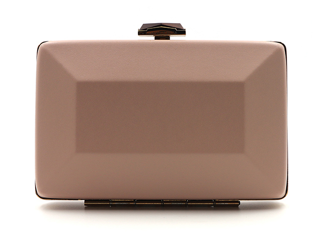 Small cosmetic train case rectangle soft EVA PU leather metal frame