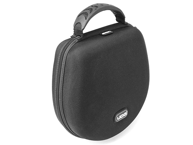 Molded EVA headphone storage case large space without mesh pocket plastic handle carrying