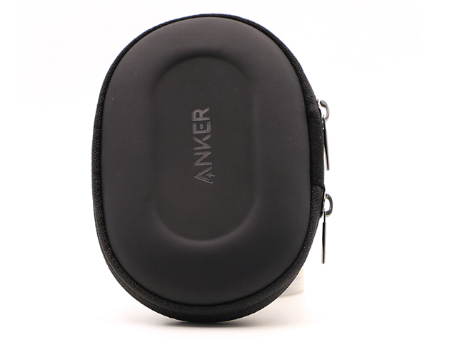 Custom cute earbud case for ANKER stamped logo matte leather