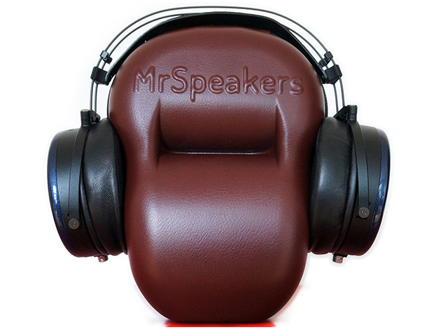 Molded EVA earphone case pouch brown leather covered with removable mesh pocket