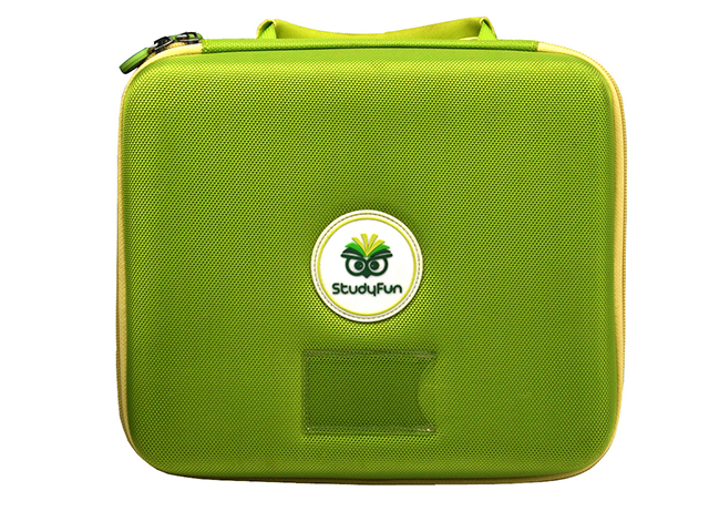 Medium Size EVA protective Case for StudyFun with light green 1680d Poly and various mesh pockets
