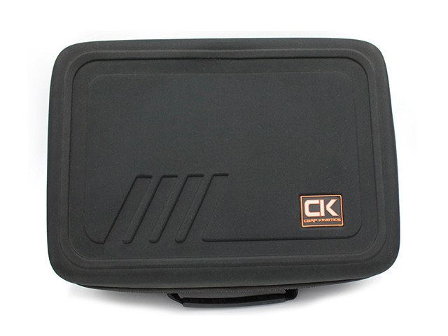 Custom EVA reel carrying Case for carp kinetics with soft die cutting foam slot