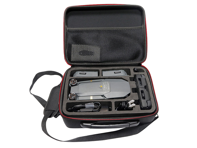 Molded EVA universal drone case with die cutting EVA insert and removable shoulder strap