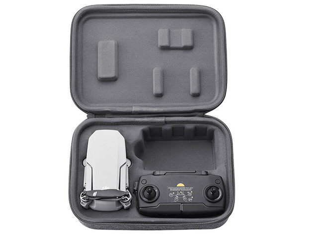 Best phantom 3 case Light grey fabric snow pattern tiny velvet lining double molded slot in case lid and base