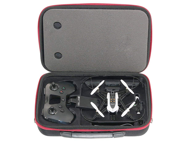 parrot drone carrying case with shoulder strap Retractable handle and molded tray die cutting foam insert