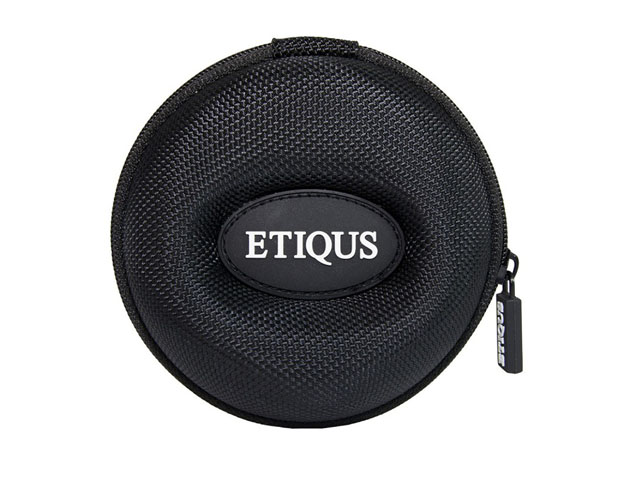Etiqus protective EVA watch collection box case waterproof nylon coating with rubber patch logo
