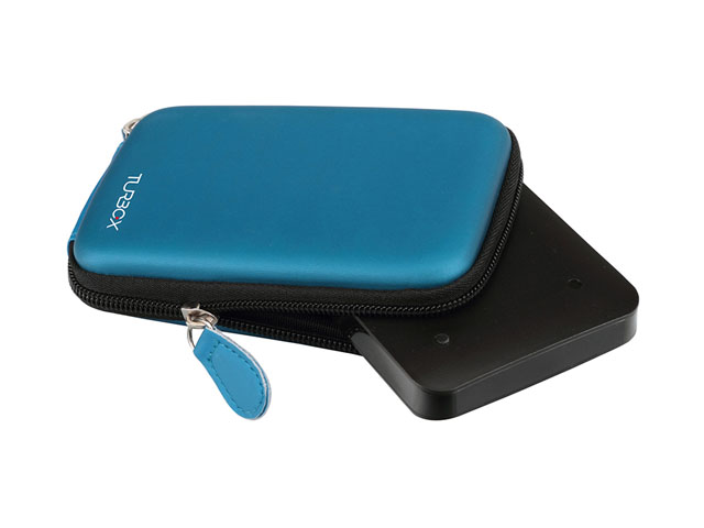 TURBOX EVA external hard disk case online design fast quotation reply with silk printing logo leather puller