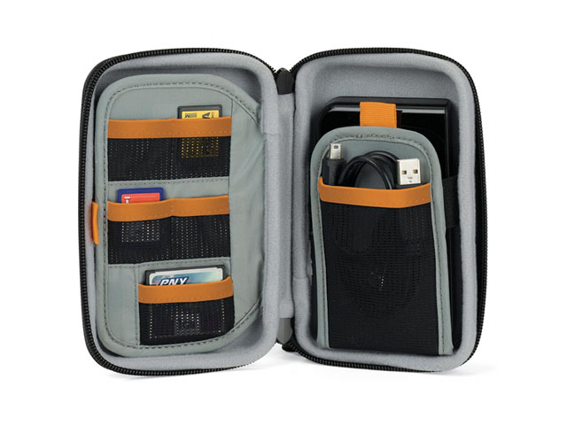 Hard shell EVA foam case hdd 2.5 usb 3.0 with multi SD card pockets and individual cable flap bag