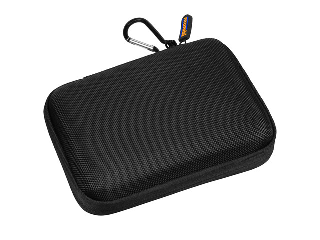 MUMBI portable EVA Foam hdd storage case waterproof nylon covering with carabiner and anti-scratch lining