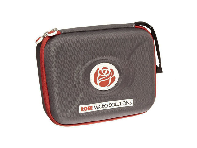 Hard Shell loupe carrying storage case for Rose Micro Solutions with wrist handle and die cutting EVA interior